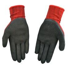 Nylon Knitted lining латекс рабочие перчатки супер сильным анти-скольжения ладони с премией закончил с покрытием surfaceon большое сжатие стресс