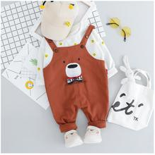 2019 Autumn Toddler Infant Clothing Suits Baby Girls Boys Clothes Sets T Shirt Bib Pants Kids Children Costume Christmas Outfit цена