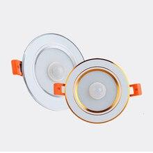 PIR светодиодный панельный Светильник Встраиваемые светильники инфракрасный датчик движения из PIR 5 Вт 7 Вт 9 Вт 230 В LED-лампа для потолочного освещения для умного дома
