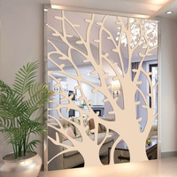 3D Acrylic Decorative Mirror Wall Sticker Big Tree Mirror Wall Sticker Home Living Room Hotel Large Size Decorative Wall Sticker