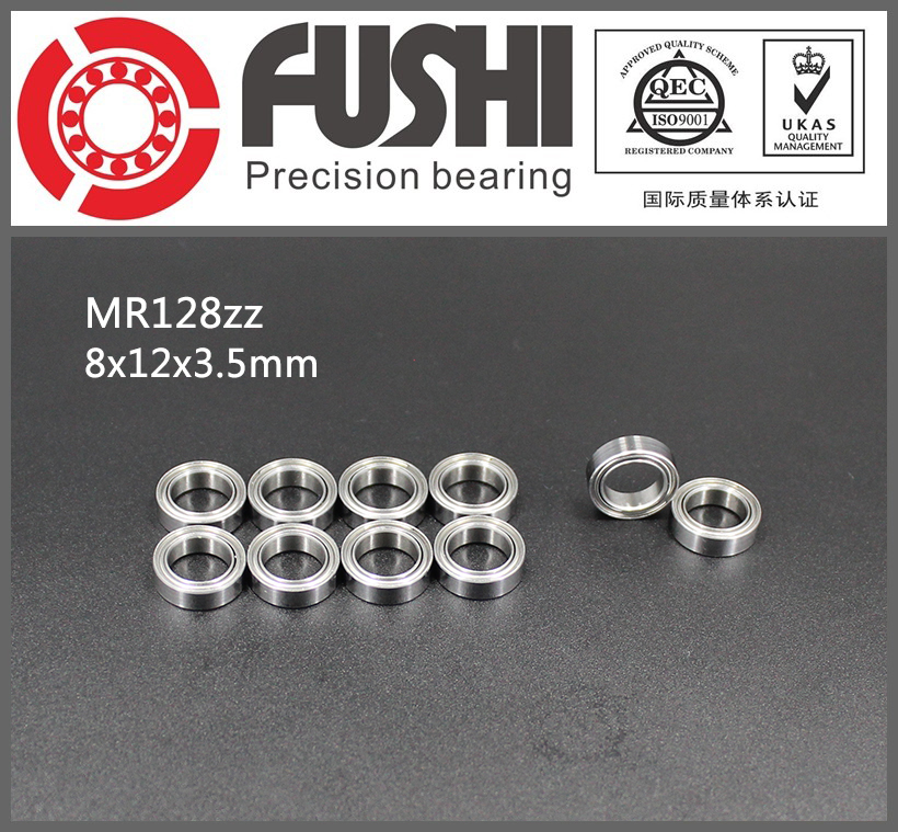 MR128ZZ Bearing ABEC-1 (10PCS) 8*12*3.5 mm Miniature MR128-2Z Ball Bearings MR128 ZZ L-1280ZZ MR128z 6903zz bearing abec 1 10pcs 17x30x7 mm thin section 6903 zz ball bearings 6903z 61903 z