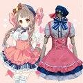 Novo Traje de Halloween Para A Mulher Roupas Anime Love Live Minami Kotori Cosplay Kimono Maid Outfit Lolita Vestido ZQ017
