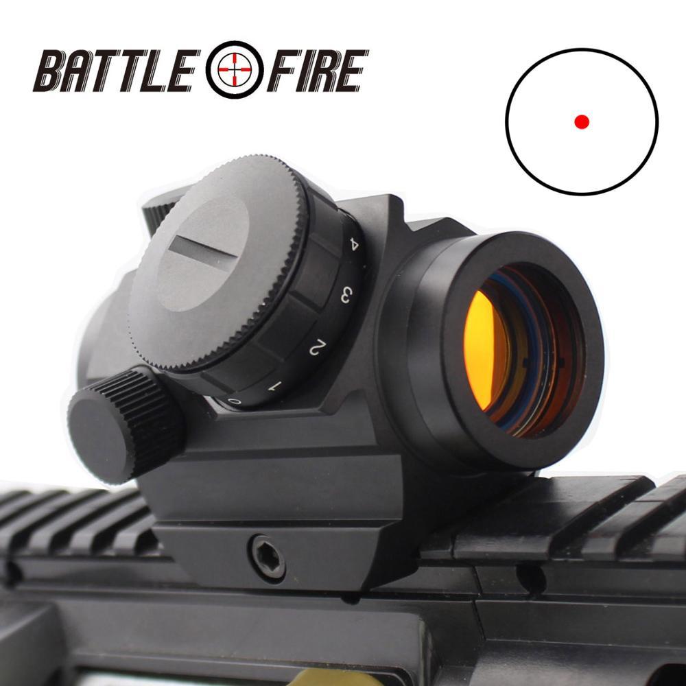Micro Vista De Punto Rojo Encapsulante Alcance Francotirador Riflescope Holográfica Lugares Ak47 Rifle De Aire Lugares ámbitos Para Escopetas óptica De Caza
