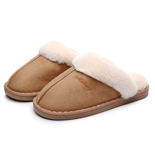 купить warm winter slippers men & women home slippers indoor shoes Plush winter solid unisex  adult Cotton female slippers  wholesale дешево