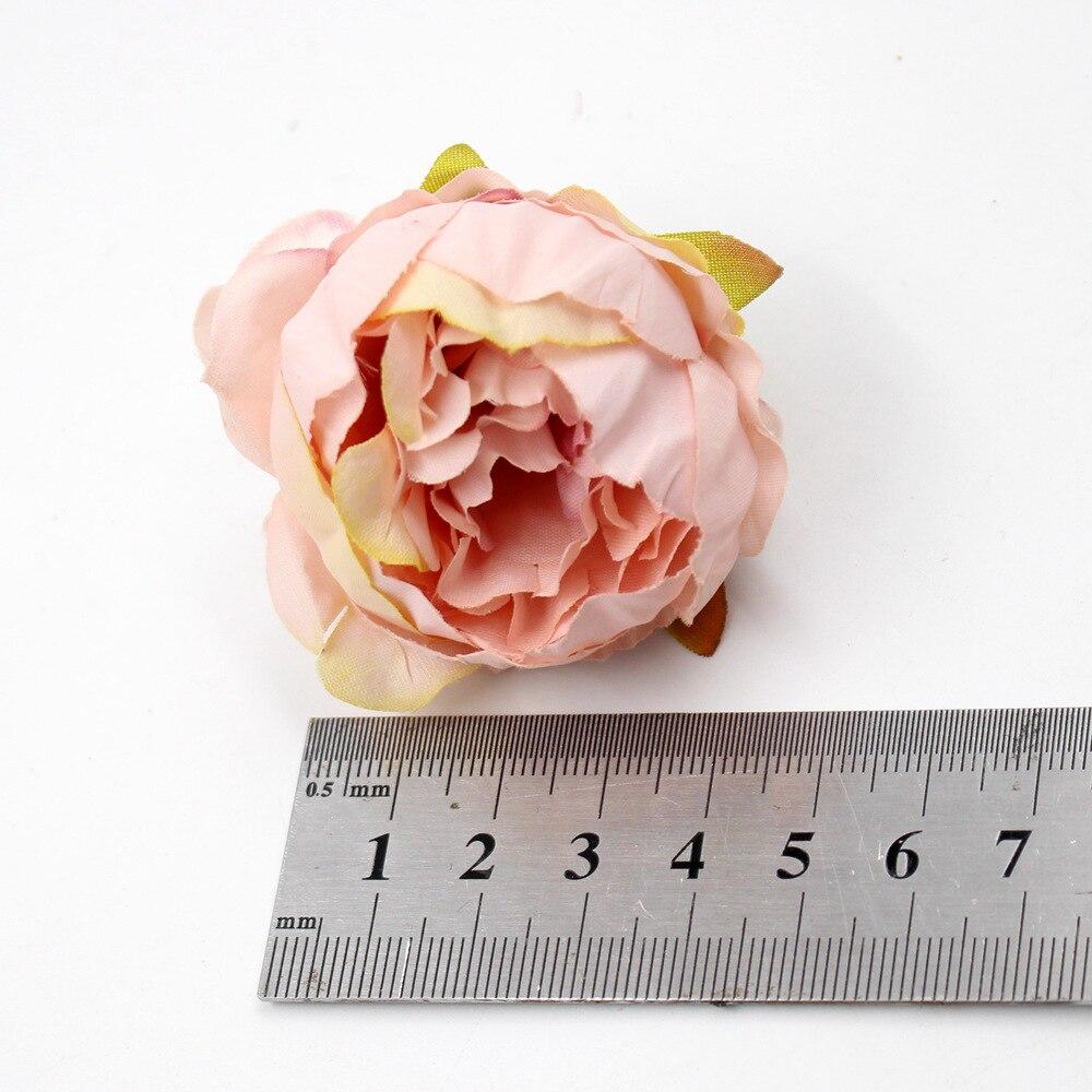 5 шт. 5 см пион розовый Искусственный Пион из шелка, Цветы Букет дешевые искусственные цветы для домашнего свадебного украшения, предметы для...