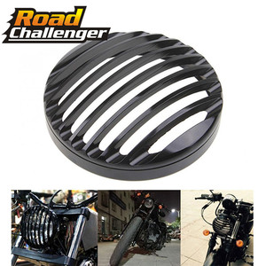 """For Harley Sportster XL 883 Iron 1200 04-14 Custom XL1200C 1200 Motorcycle 5 3/4"""" CNC Led Headlight Grill Cover(China)"""
