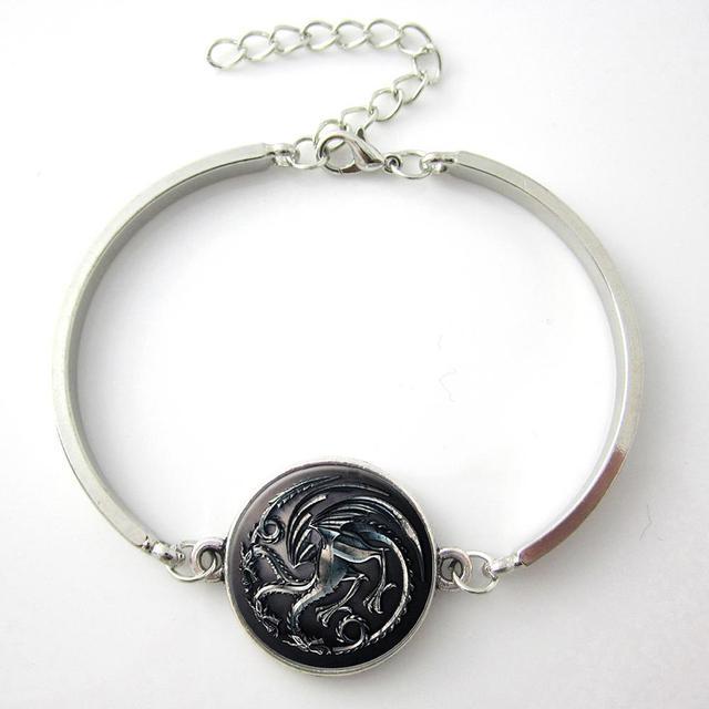 Game Of Thrones House Targaryen silver Bracelet