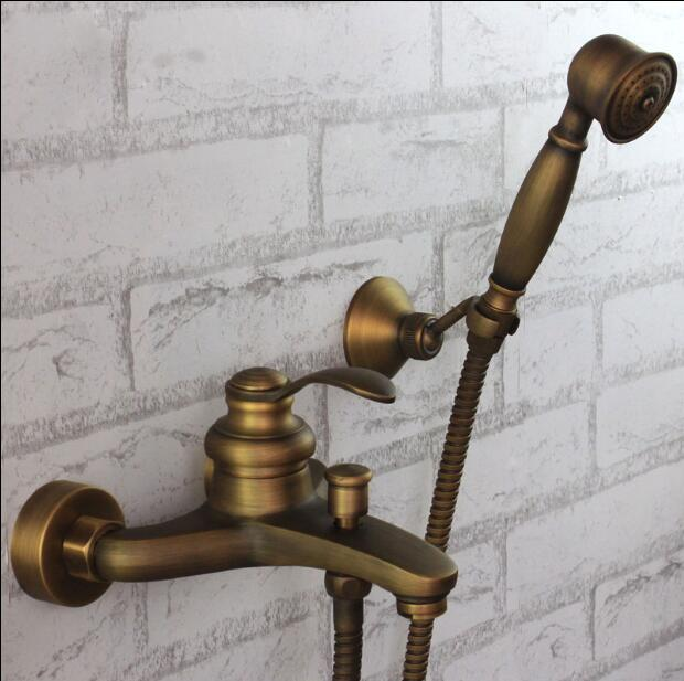 Brass ORB finished Wall Mounted bathroom shower Mixer Set bathtub faucet set Water Tap torneira chuveiro ducha free shipping china sanitary ware chrome wall mount thermostatic water tap water saver thermostatic shower faucet