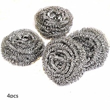 4pcs Kitchen ware stainless steel wire metal cleaning ball brush bowl rust removing gadget thin steel wire brush drum wheel used for removing rust 0 3mm copper coating steel wire for ncctec nsdm950 grinder