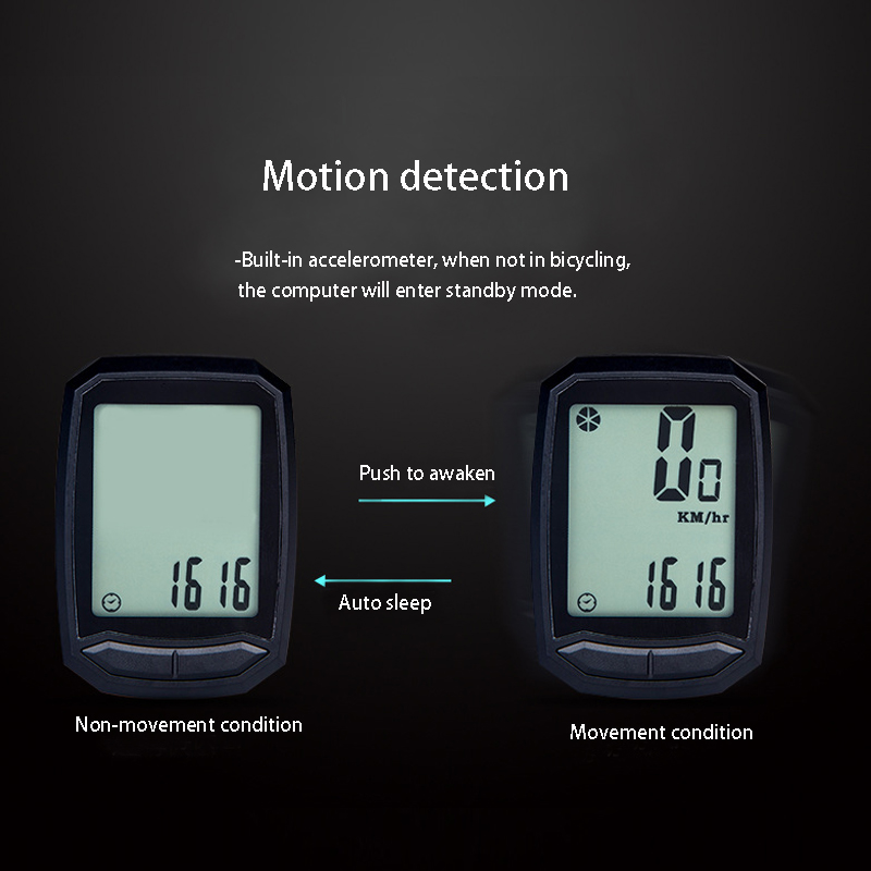 Digtal Speedometer Wired Waterproof Odometer Bike Bicycle Cycling Computer LCD Stopwatch Backlight Outdoor for Traveling
