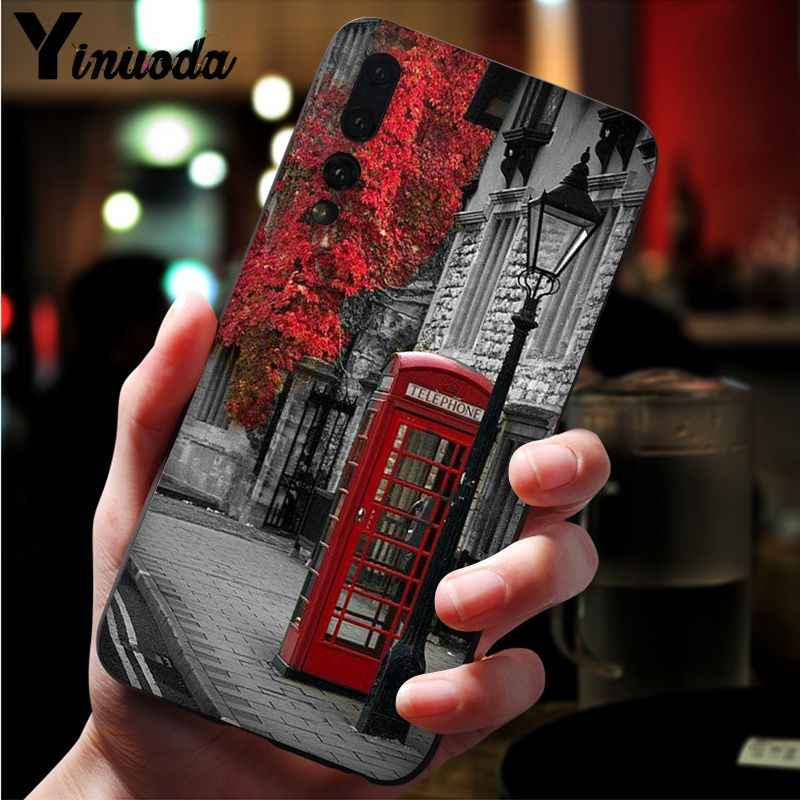 Yinuoda style london bus england telephone vintage british Phone Case Cover for Huawei Mate10 Lite P20 Pro P9 P10 Plus View 10