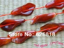 ( 2 hilos / sistema ) envío gratuito milagro grano del encanto para la pulsera 15 * 37 mm ágata roja tallada en forma de flor perlas sueltas diy