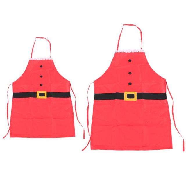 Novelty Christmas Cooking Aprons Xmas Family Party Decoration Adult Children Aprons Kitchen Supplies