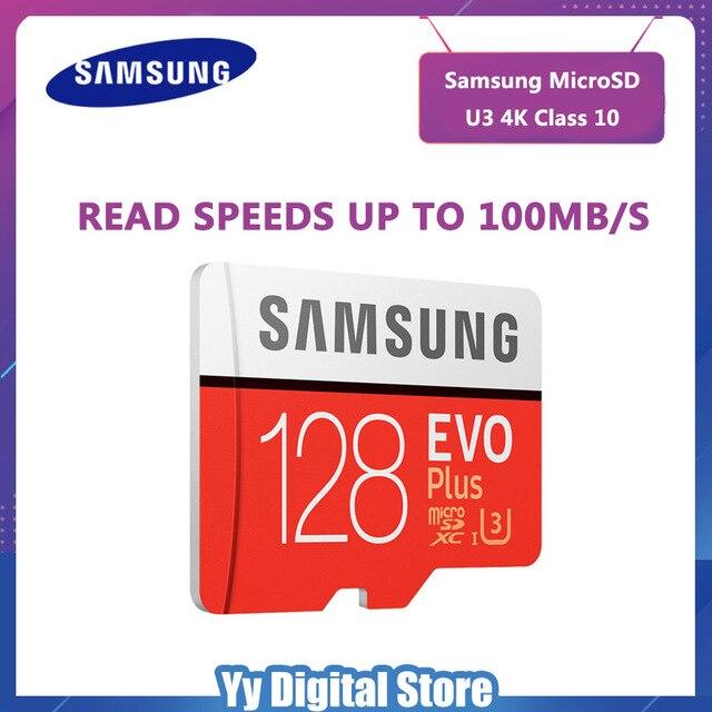 SAMSUNG EVO cartão Micro SD de 128 gb Cartão de Memória Mais 128 gb Cartão TF microsd C10 Class10 UHS-I U3 Frete grátis cartao de memoria