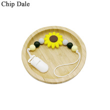 Chip Dale Sunflower Baby Soother Clips Silicone Teething Pacifier Clip Chew Toys Chain Holder For Nipples