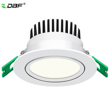 [DBF] Model Baru Frosted Lensa LED Recessed Downlight Tinggi Bright Epistar COB LED Lampu 5W 7W 10W 12W dengan Transformer(China)