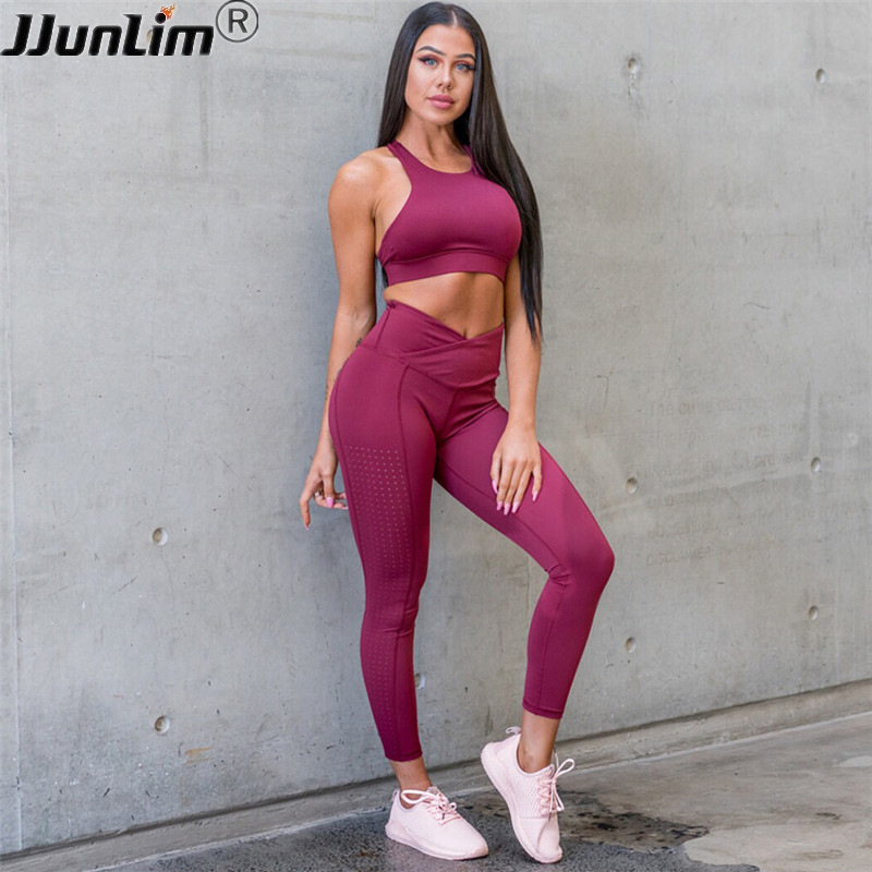 women gym clothes workout set sport suit tight sports wear