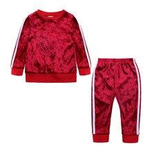 2019 новые комплекты одежды для маленьких девочек, одежда для детей,  спортивные костюмы для маленьких 58f17d9d166
