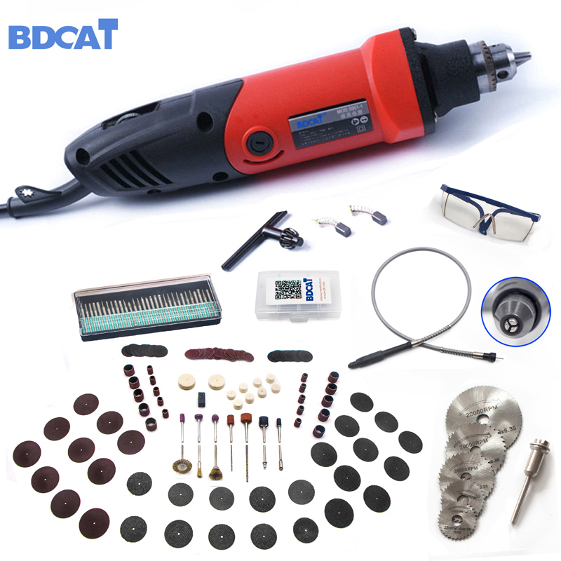 Posição 6 BDCAT 220 V 400 W Mini Grinder Velocidade Variável Para Dremel Rotary Ferramenta de Moagem Ferramenta de Poder com 186 pcs Acessórios Dremel