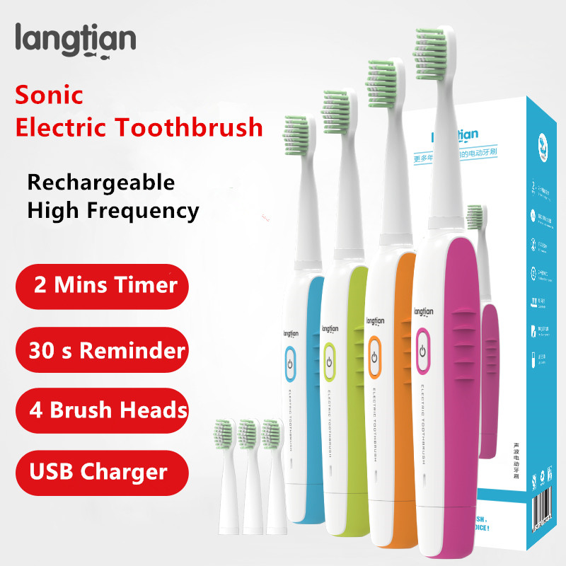 LT-Z09 Sonic USB Rechargeable Electric Toothbrush Ultrasonic Electric Toothbrush Diamondclean Tooth Brush 2 Mins Timer image