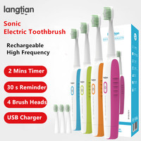 LT Z09 Sonic USB Rechargeable Electric Toothbrush Ultrasonic Electric Toothbrush Diamondclean Tooth Brush 2 Mins Timer