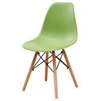 PP Wood DIY Dining Chair Modern Minimalist Dining Bar Meeting Living Coffee Room Beech Wooden Chair Loft Chairs Home Furniture