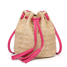 Ladies Straw Bag For Women Shoulder Casual Crossbody Handbags Mini Knitting Package Fringed Woven Bucket Pouch Hot Sale