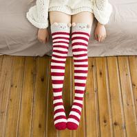 2018 new womens over gối dài giản dị đùi highs velvet overknee cho phụ nữ cô gái váy phụ kiện mùa đông Vớ ấm