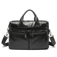 100 Genuine Leather JMD Vintage Men Black Handbag Men Messenger Bag Laptop Men Travel Bags Briefcase