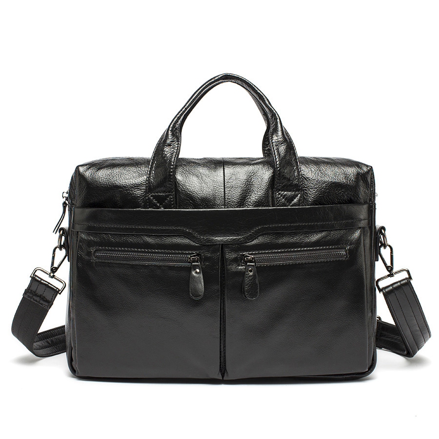 ФОТО 100% Genuine Leather JMD Vintage Men Black Handbag men Messenger Bag Laptop men travel bags Briefcase Factory Directly