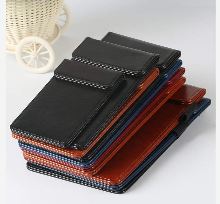 A4 Magnetic Clip Holder PU Leather Folder Menu Clip Contract Holder Bill Holder Clip