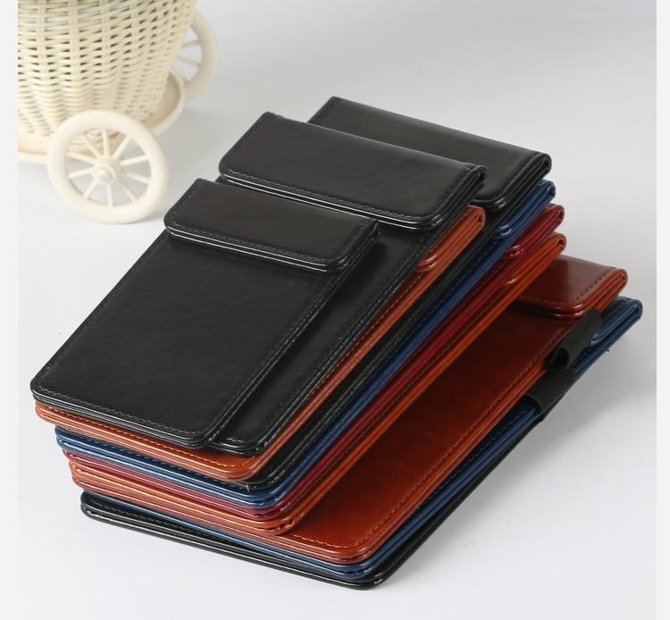 A4 Magnetic Clip Holder PU Leather Folder Menu Clip Contract Holder Bill Holder Clip