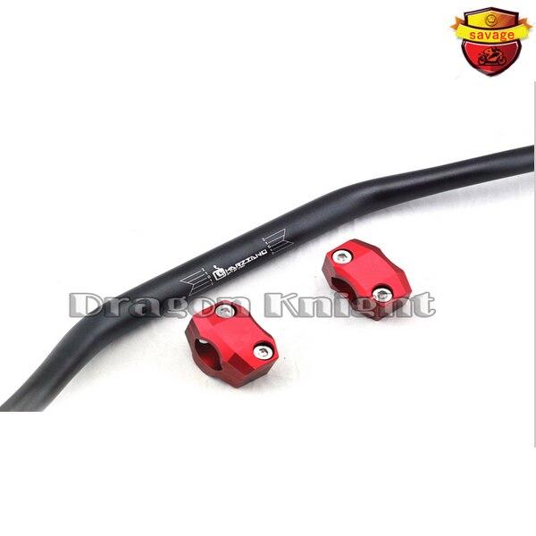 ФОТО Off-road Handlebar Steering Wheel & Riser handlebar FOR HONDA XR400 XR250 XR230 Red