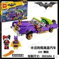 Nuevo 433 Unids Lepin 07046 Genuino Serie Movie El Joker Lowrider Conjunto de Bloques de Construcción Ladrillos Juguetes de Batman con 70906 BATHERO
