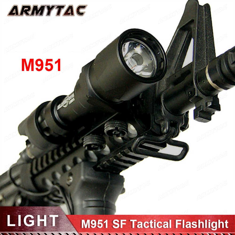 ยุทธวิธียุทธวิธี SF M951 LED รุ่น Super Bright ไฟฉายอาวุธไฟสวิทช์ความดันระยะไกล 20 มม. (EX 108)