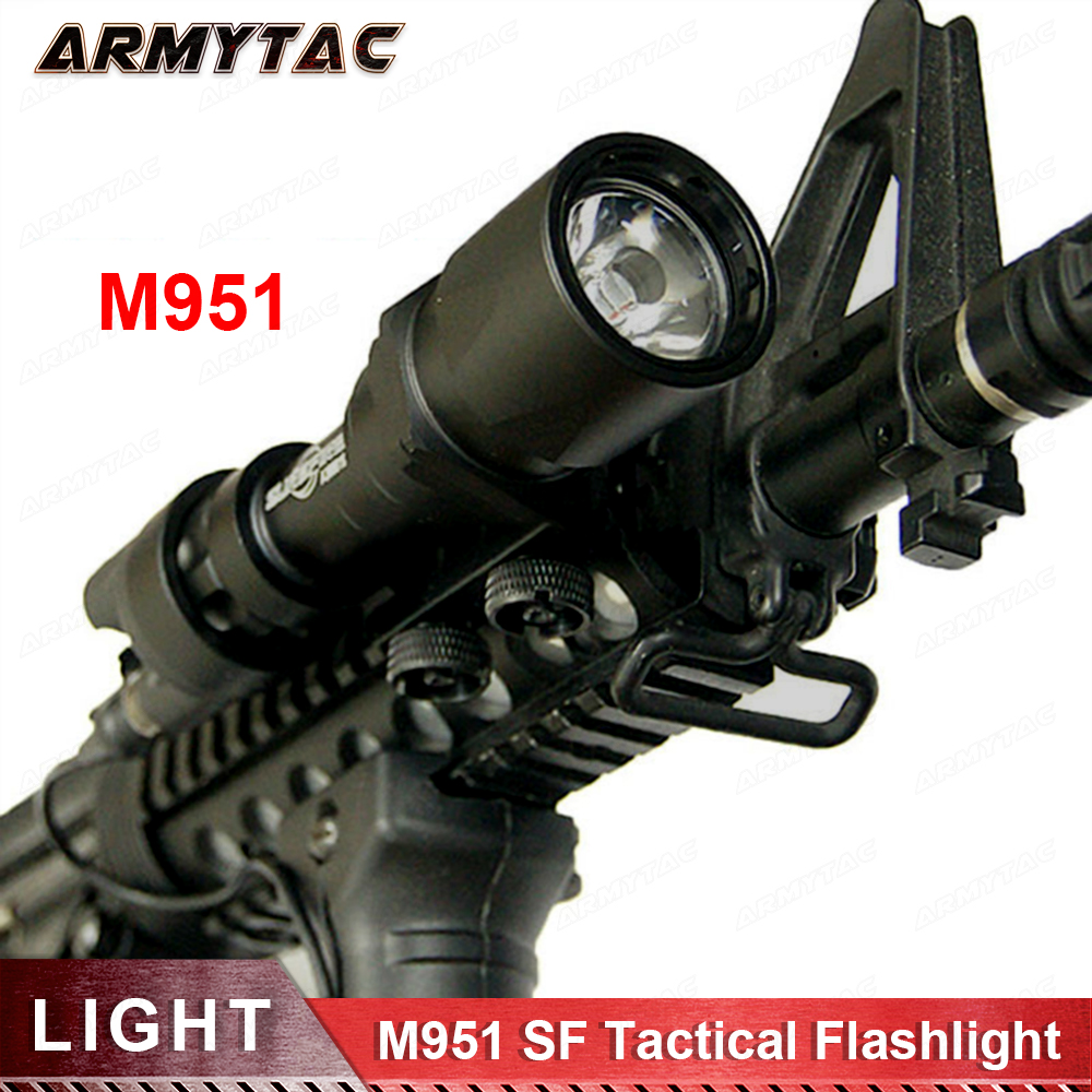 Tactical Tactical SF M951 LED Version Super Bright Flashlight Weapon Lights With Remote Pressure Switch 20mm flashlight (EX 108) remote pressure switch l16 for tactical flashlight acebeam l16