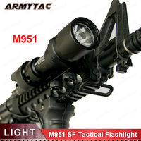 Tactical Tactical SF M951 LED Version Super Bright Flashlight Weapon Lights With Remote Pressure Switch 20mm flashlight (EX 108)