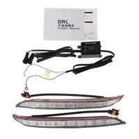 2 Pcs Car LED DRL Daytime Running Light Driving Fog Lamp For KIA K2 RIO 2012