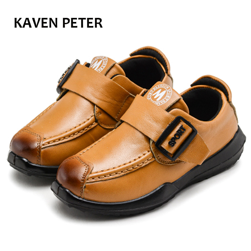 New Kids Genuine Leather shoes 2018
