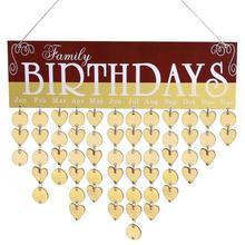 2018 DIY Wooden Hanging Calendar Family Friends Birthday Date Reminder Sign Board Planner Korean Home Office Decor Supplies