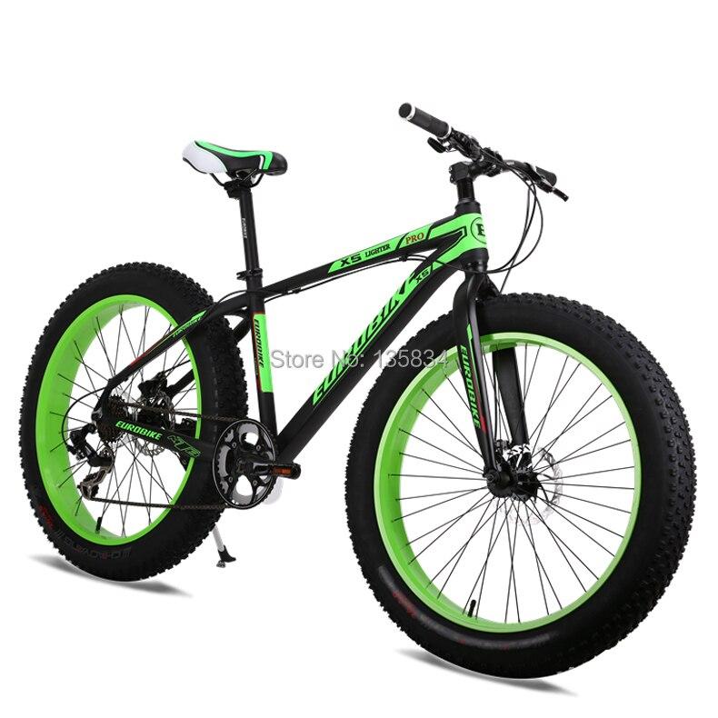 Us 5290 Hot 7 Geschwindigkeit Bicicleta Mountainbike 26 40 Zoll 10 Cm Erweitern Schlamm Knorrigen Reifen Bicicletas Gelände Bicicleta Schnee
