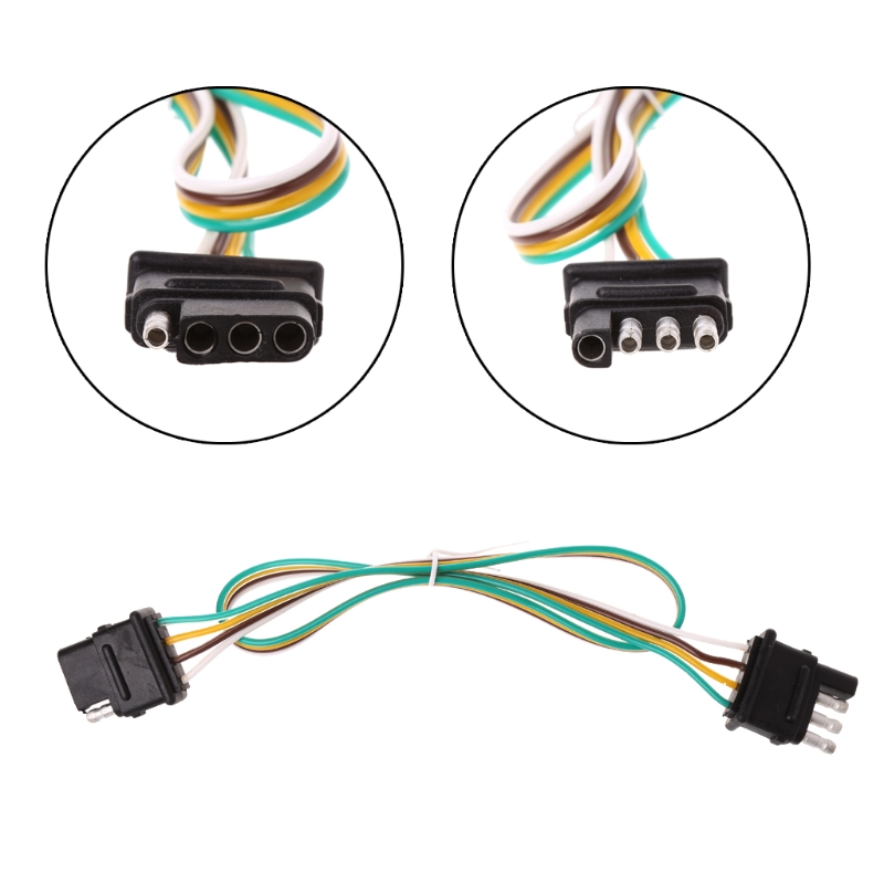 car 6 24v trailer light wiring harness extension 4 pin plug 18 awg rh aliexpress com