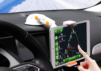 Dashboard Suction Tablet GPS Mobile Phone Car Holders Adjustable Foldable Mounts Stands For Apple IPad 2