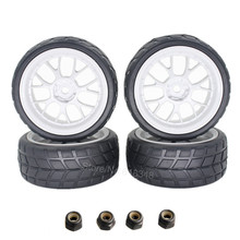 4pcs RC Tyres 1 10 Plastic Wheels 26mm Foam Insert For On Road Car HSP HPI