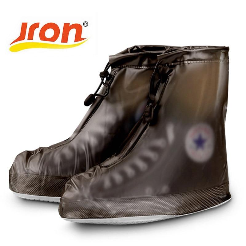 Ūdensnecaurlaidīgs Overshoes Rain Pretslīdes ūdensnecaurlaidīgs putekļu necaurlaidīgs apavi Cover elpojošs apavi sievietes plakaniem apaviem Sievietēm atkārtoti lietojams