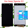 Para sony xperia z2 l50w d6503 d6502 d6543 lcd pantalla lcd touch screen reemplazo digitalizador asamblea con adhesivo
