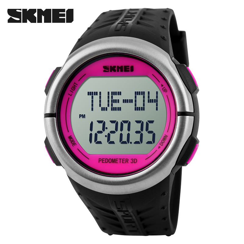 Prix pour Skmei podomètre moniteur de fréquence cardiaque compteur de calories fitness tracker en plein air hommes sport montres numérique montre femmes montres