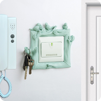 Resin decorative paste switch socket protective cover stickers creative garden wall hanging key switch