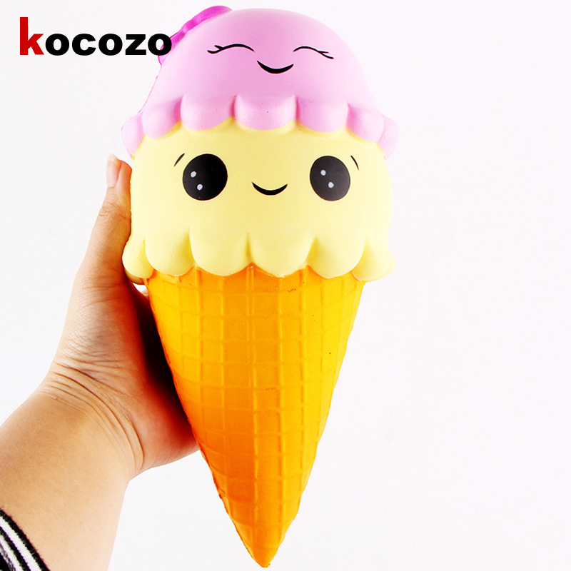 Cute Squishy Large Squishy Ice Cream Slow Rising Relieve Stress Toy Gift Kid Toy Doll Slow Rising Stress Toys for Children Adult
