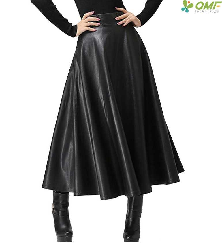 c2d5f56bd8 ... Swing Pleated PU Skirt Elegant Faux Leather Skirt High Waist Retro Long  Skirts Comfortable Faldas Ball ...